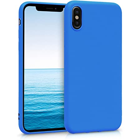 kwmobile Cover Compatibile con Apple iPhone X - Cover Custodia in Silicone TPU - Backcover Protezione Posteriore- Blu Fluo