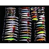 【イーサン恵】釣り具福袋 ルアー福袋 釣りルアーセット 56個 ミノー ルアーセット フローティングミノー シーバス ルアー シーバス ルアー ピーナッツ ルアー 釣り道具 様々な柄があり、一日の釣りは飽きません! 沢山の種類があるのでどれでも行ける、選択はもう戸惑わない!