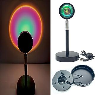 ANROD Lampe de Projection LED Coucher de Soleil, Veilleuse USB Arc-en-ciel Rotatif à 180 Degrés, lampadaire d'Activité, Dé...
