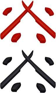 f8c8dc6cda HKUCO Rojo/Negro Juego de Patas de Silicona de Repuesto para Oakley Fast  Jacket XL