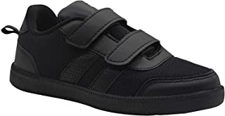SKUDO KazarMax Boy's & Girl's (Unisex) with Superlight Weight Formal Black School Shoes (Made in India)