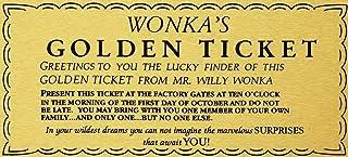 Fhdang Decor Willy Wonka Golden Ticket - Cartel de Aluminio para Pared, diseño de Charlie Chocolate Factory, Metal, Multicolor, 10x14 Inches