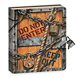 Peaceable Kingdom Keep Out 6.25' Lock and Key, Lined Page Diary for Kids