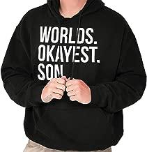 Brisco Brands Worlds Okayest Son Funny Children Gift Hoodie