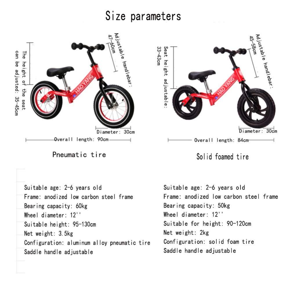 YSH Bicicletas De Equilibrio para Niños 2-6 Años Sin Pedal ...