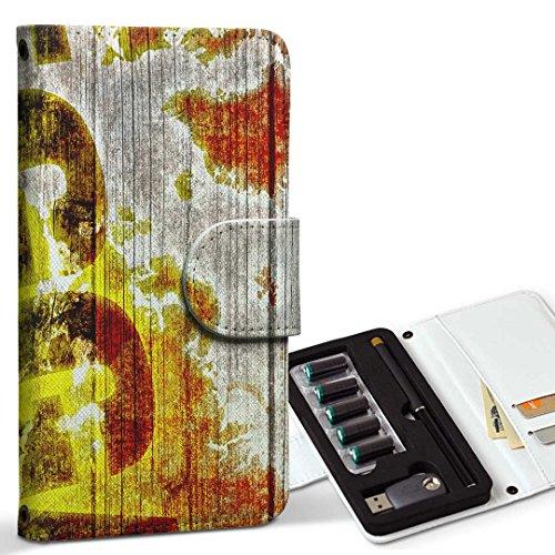 スマコレ ploom TECH プルームテック 専用 レザーケース 手帳型 タバコ ケース カバー 合皮 ケース カバー 収納 プルームケース デザイン 革 その他 レゲエ ラスタカラー ピース 000144