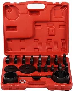 Qiilu Wheel Bearing Removal Tool Kit, 23Pcs Front Wheel Drive Bearing Press Tools Removal Adapter Puller Pull Set