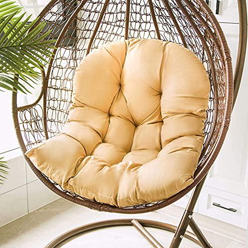 cojín para silla con forma de huevo, cojines para hamaca para silla Columpio Cesta Colgante Silla Asiento Hamaca cojín cojín para el hogar Graden Uso Exterior cojín para columpio para jardín