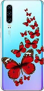 Oihxse Silicone Transparente Case avec Motif Papillon Compatible pour Huawei Mate 20 Coque Souple TPU Gel Mode 3D Dessin É...