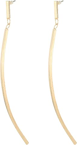 GUESS Linear Bent Stick Earrings