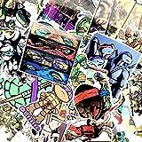 YCYY 50 Pegatinas de película de Tortugas Ninja Mutantes Adolescentes no repetidas Caja de Palanca de tracción Pegatinas de Doodle de monopatín Que mueven Dibujos Animados a Prueba de Agua