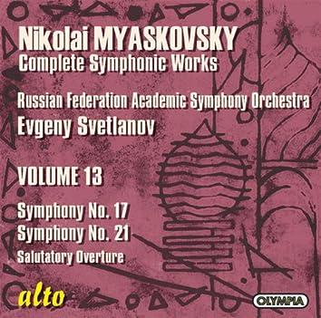 Myaskovsky: Symphonies Nos. 17 Op. 41 And 21 Op. 51