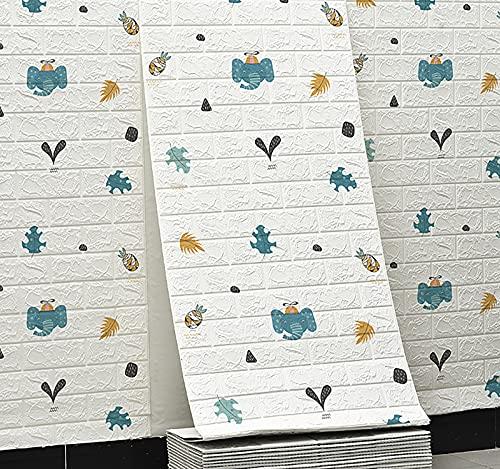 SHUAIGE Peel 3D Y Pegatinas De Azulejos De Palillo Palanca De Pared Palo En Azulejo Salpicaduras para Cocina Y Baño Blanco Anti-colisión Pegatinas De Pared Bolso Suave Más Grueso(Size:10M)