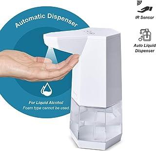 kuman Alcohol Dispenser, Non-Contact Soap Dispenser Automatic Sprayer Bottles 360ml, Portable Liquid Dispenser for Bathroom Countertop, Home, Restaurant, School, Hotel KLA34