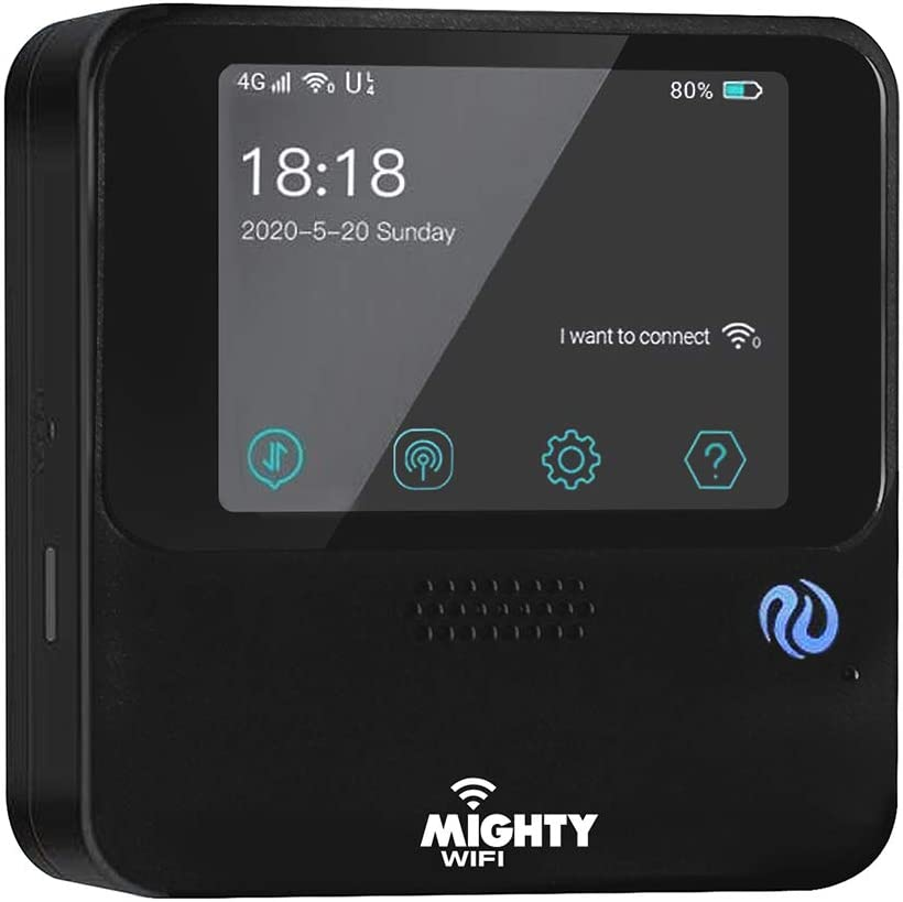 Mobile Wi-Fi Hotspot Device High Speed Wi-Fi Portable Router with US 30 GB & Global 3 GB Data 30 Days, No SIM-Card, Pocket, Free Roaming, Worldwide, Travel, Home