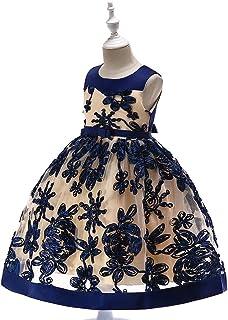 女の子 Yochyan 子供 キッズドレス 子供服 可愛い キュート ドレス 誕生日 結婚式 フォーマルドレス プリンセスドレス パーティードレス ファッション おしゃれ ノースリーブ ポリエステル パフォーマンス ワンピース