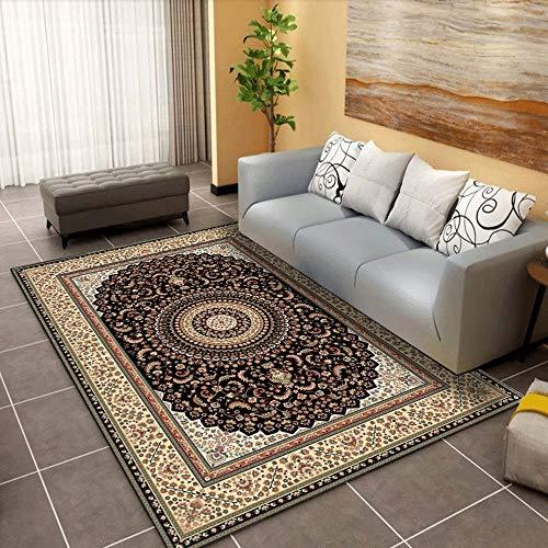 Teppich Thin Bereich Teppich Polyester Bodenmatte mit rutschfestem Schutzträger for Entryway Schlafzimmer Wohnzimmer Sofa Bettvorleger European Style Wohnkultur Teppich-Bereichs-Wolldecke Wohn-Esszimm