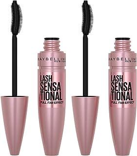 Maybelline Lash Sensational Washable Mascara Makeup, Volumizing, Lengthening, Full-Fan Effect,...