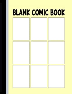 Blank Comic Book: Panels for Drawing Your Own Comic – 9 Panels (Comic Panels Sketchbook)