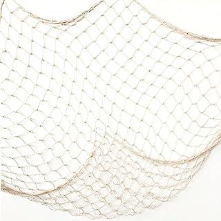 Baaxxango Creamy White Fishing Net Beach Theme Decor for Party Home Living Room Bedroom..