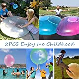 KRY 2PCS Bubble Balloon Inflatable Toy Ball,Inflatable Bubble Ball, Transparent Tear-res...