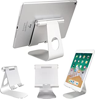 Tablet Stand Charging Port, Tablet & Mobile Phone Desktop Holder, Aluminum, Adjustable and Solid Durable for iPad, iPone, ...