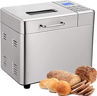 COSTWAY Bread Maker, 15 Programmable Multifunctional Bread Machine with 15 Programs,Automatic 15 Hours Delay Timer, 3 Loaf Sizes, 3 Crust Colors, 1 Hour Keep Warm (15 Programs 600W)