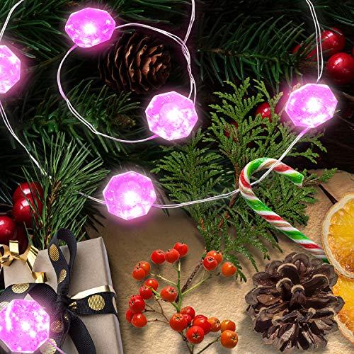 Lauva Dekorative Lichterkette, batteriebetrieben, 3m, 40LEDs, mit Fernbedienung, für Innen und Außen, Weihnachten, DIY, Deko für Zuhause, Neujahr, Party, Urlaub, Hochzeit, Dekoration diamantrosa