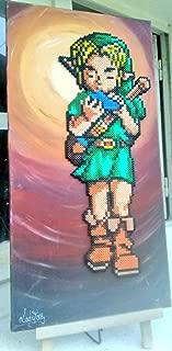 pixel art zelda link