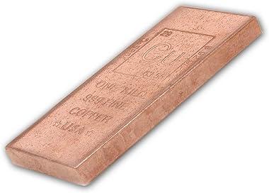 1 Kilo Copper Bar Bullion Paperweight - 999 Pure Chemistry Design w/COA by CoinFolio