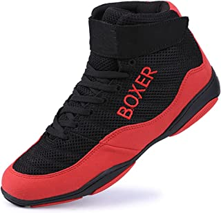 WJFGGXHK Boxing Shoe, Mesh Breathable Kickboxing Shoes Lightweight Wrestling Shoes Boots for Men Women Kids