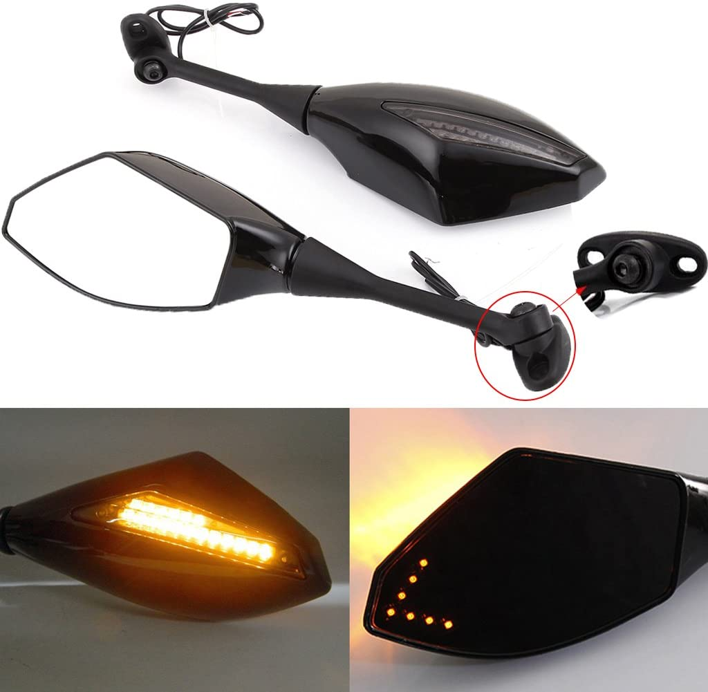 Black Motorcycle Side Rear View Mirrors with for Spo Signal Cheap Popular popular mail order shopping Turn