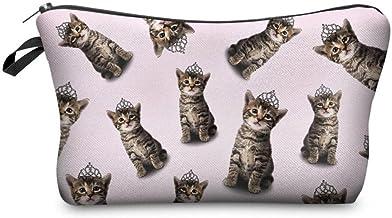【560kick】 キジ 猫  メイク 用品 収納 ポーチ ピンク
