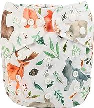 Sigzagor Baby Pocket Diaper Nappy Reusable Washable (Watercolour Woodland)