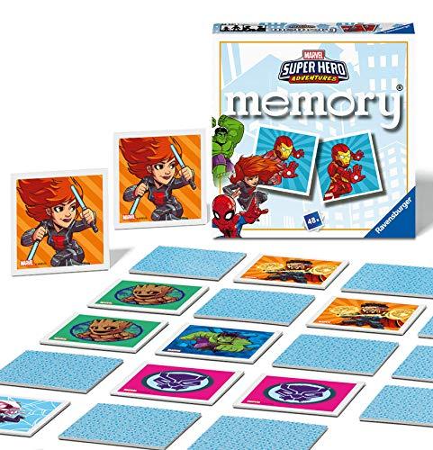 Ravensburger Italy- Marvel Super Hero, Avengers Memory in Formato Pocket, 15x15 cm, Gioco, 24 Coppie in Cartone, 48 Carte, per Bambini a Partire da 4 Anni, da 2 a 8 Giocatori, Multicolore, 0, 24561 1