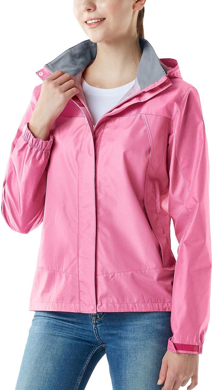 TSLA Dedication Women's Waterproof Rain Weekly update Jackets Lightweight Breathable Rai
