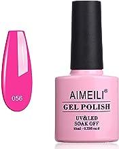 AIMEILI Esmalte Semipermanente De Uñas Soak Off UV LED Uñas De Gel - Neon Peachy Pink (056) 10ml