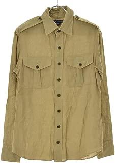 (ラルフ ローレン) RALPH LAUREN エポレット付きリネン 長袖シャツ