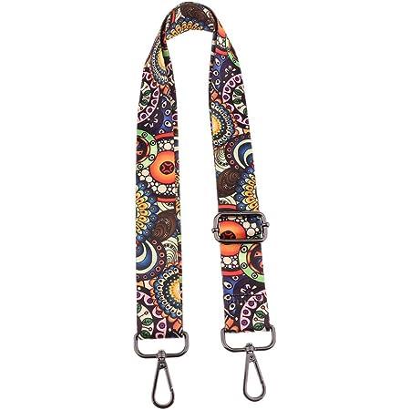 Purse Strap Replacement Guitar Style Multicolor Canvas Crossbody Strap for Handbags