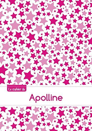 Le cahier d'Apolline - Petits carreaux, 96p, A5 - Constellation Rose