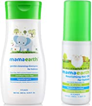 Mamaearth Gentle Cleansing Shampoo for Babies (200 ml, 0-5 Yrs) änd Nourishing Hair Oil for Babies 100ml (0-10 Years)
