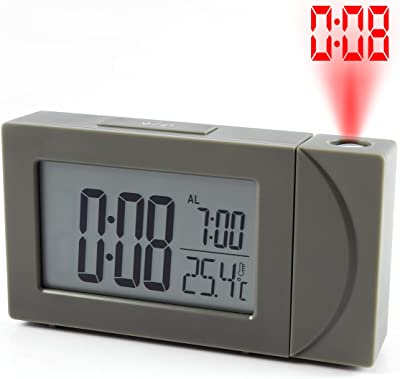 Vivavast 投影式 目覚まし時計 投影時計 デジタルLED時計 置き時計 デジタル時計 時刻投影 卓上時計 時刻投影アラーム 部屋 オフィス 台所用