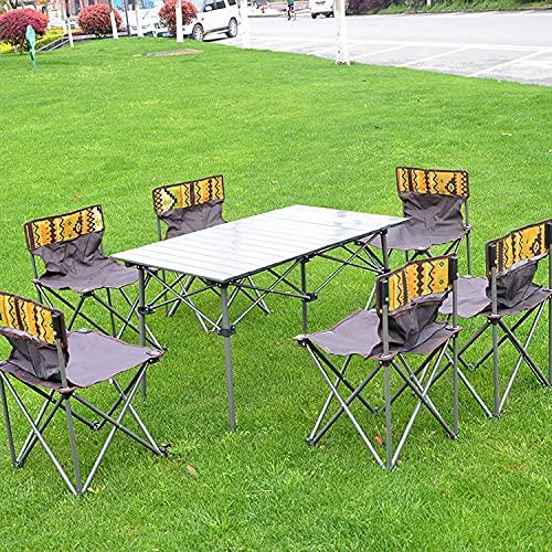BAIZAN Mesa De Picnic Plegable, Silla De Mesa Portátil para Acampar Al Aire Libre, Tela Oxford Impermeable, Fiesta De Barbacoa De Alta Estabilidad