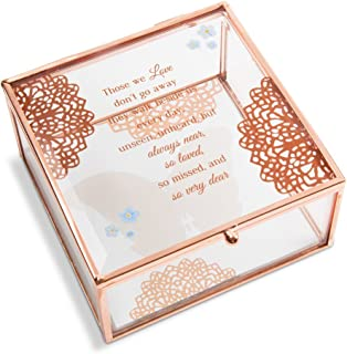 Pavilion Gift Company Light Your Way Memorial - Always Near, So Loved, So Missed and So Very Dear Glass Keepsake Box