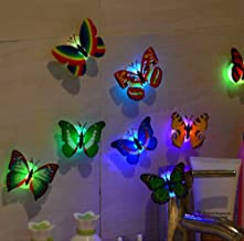Gemini_mall 3D DIY LED Butterfly, 10 Pieces Kids Bedroom Fairy Flashing Colorful Adhesive Glowing Lights Home Decoration Party Favours Toys Christmas Stocking Fillers (10pcs)