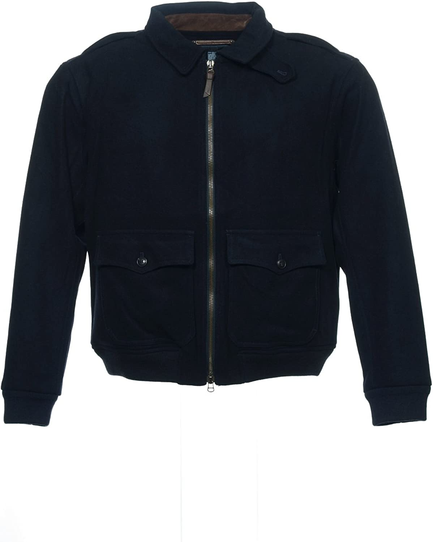 Ralph Lauren Polo Men's Wool Blend Black Bomber Jacket