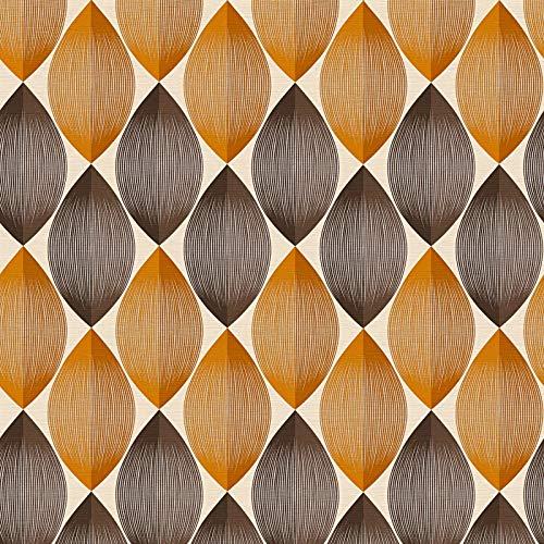 Carta da parati anni 70 damascata Beige Marrone Arancione/Terracotta 340673 34067-3 A.S. Création Adelaide   Beige/Marrone/Arancione/Terracotta   Rotolo (10,05 x 0,53 m) = 5,33 m²