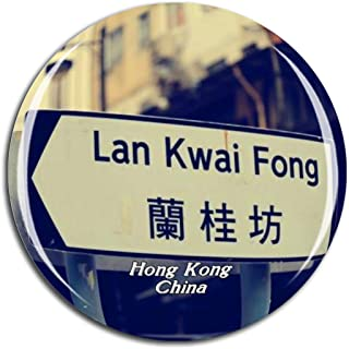 Weekino China Lan Kwai Fong Hong Kong Fridge Magnet 3D Crystal Glass Tourist City Travel Souvenir Collection Gift Strong Refrigerator Sticker