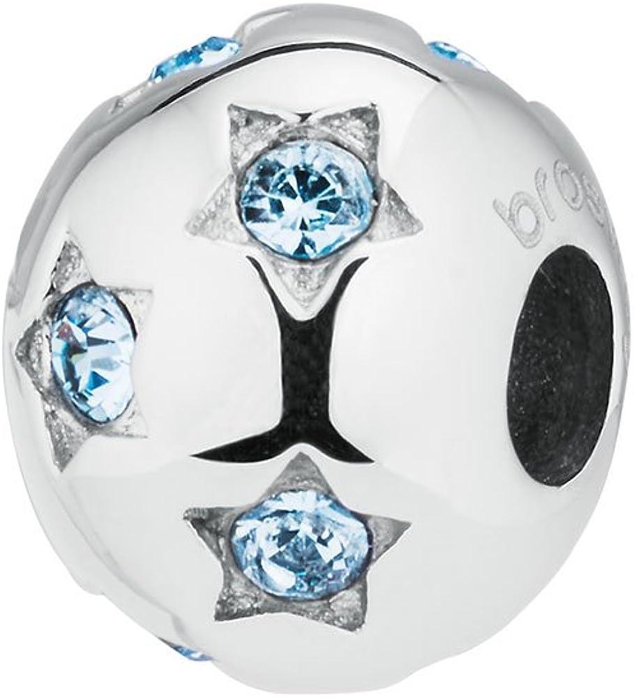 Brosway tres jolie mini-serenità in acciaio 316l e cristalli aquamarine swarovski, charms BTJM159