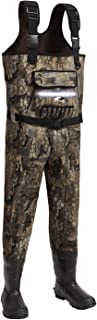 8 Fans Hunting Chest Waders, Camo Neoprene Hunting Waders for Men with 600g Thinsulate Insulation Waterproof Neoprene Clea...